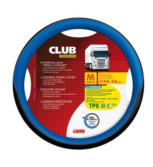 FUNDA VOLANTE CLUB PREMIUM NEGRO AZUL 44-46 CM