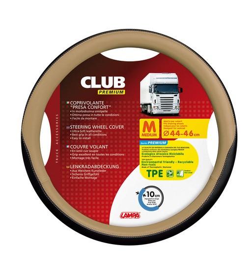 FUNDA VOLANTE CLUB PREMIUM NEGRO BEIGE 44-46 CM