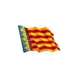 Adhesivo ondeante bandera de valencia