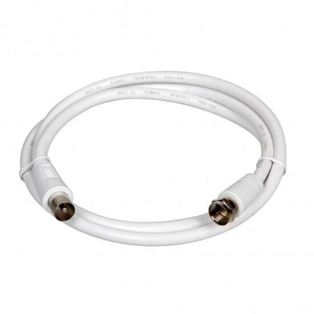 Cable coaxial para antena TV Globo 1 metro