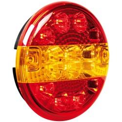 Luz trasera redonda LED 3 funciones, 12 / 24V