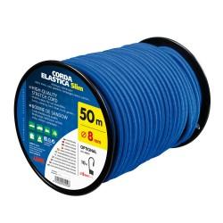 Cordón elástico en carrete, azul - Ø 8 mm - 50 m