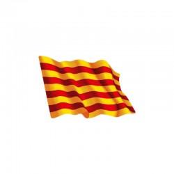 Adhesivo ondeante bandera de Cataluña