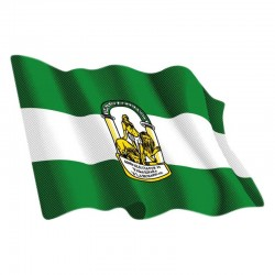 Adhesivo ondeante bandera de Andalucía