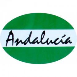Adhesivo bandera de Andalucía con letra
