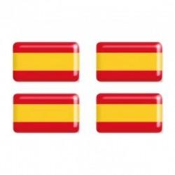 Adhesivo resina bandera de España