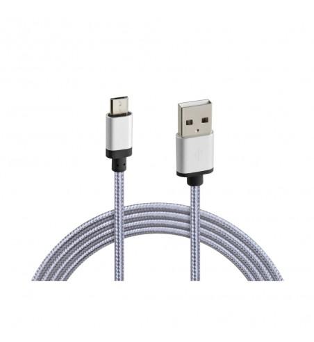 Cable USB y micro USB metálico reforzado 100 cm