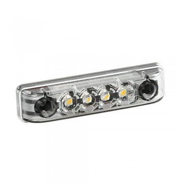 Luz de gálibo impermeable 4 Led blanca homologada