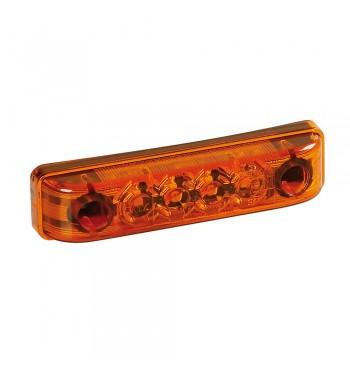 Luz de gálibo impermeable 4 led ambar homologada