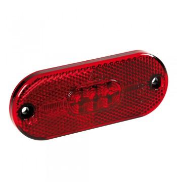 Luz de gálibo 5 led con reflector roja homologada