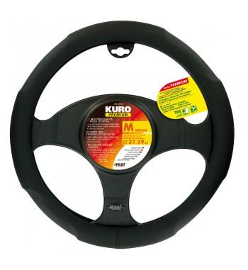 Funda volante kuro premium negro 37-39 cm