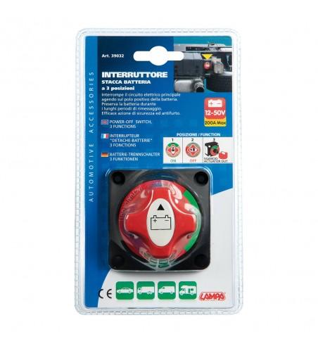 Desconectador de batería universal 3 funciones 200A 12/50V