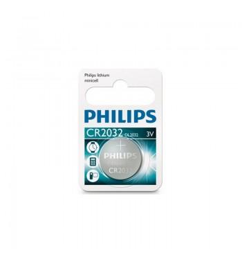 Pila botón Philips CR2032
