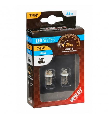Lámpara T4W 4 Led blanco BA9S