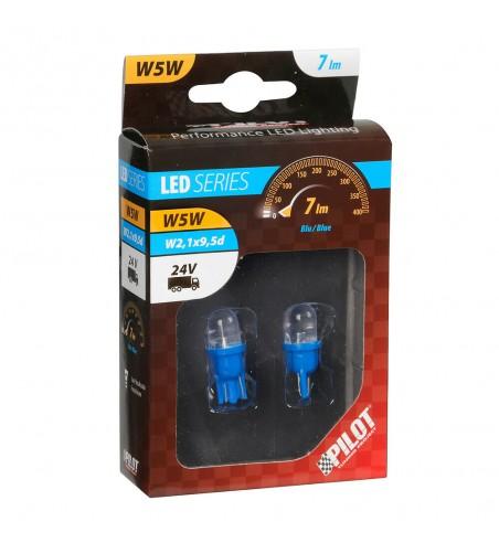 Lámpara W5W led azul W2 1X9 5D