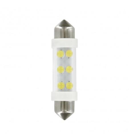 Lámpara 11x41 mm 6 led siluro blanco SV8 - 5 - 8
