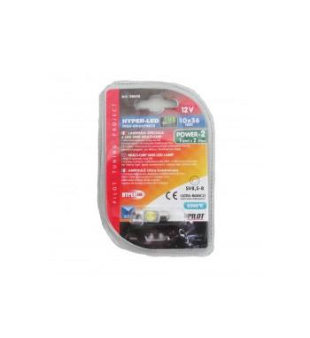 Lámpara hyper led siluro 10x36 mm 1SMD
