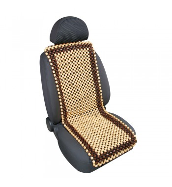 "Respaldo asiento bolas madera ""samurai"" natural y madera beige"