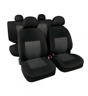 Funda asiento clásico en poliéster gris/negro